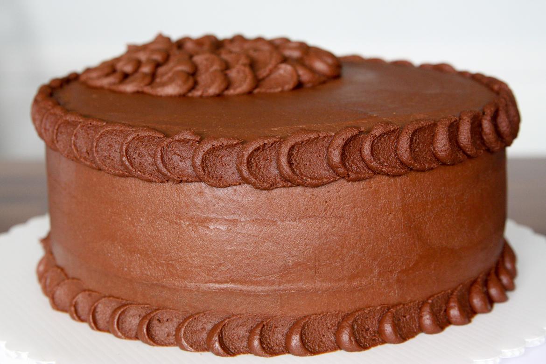 Chocolate Buttercream Petal Cake