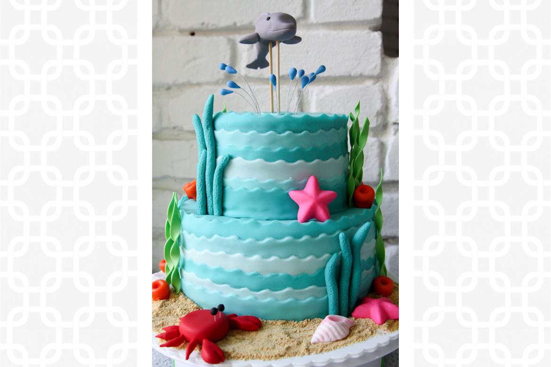 Under The Sea Birthday Cake Rebecca Cakes Bakes