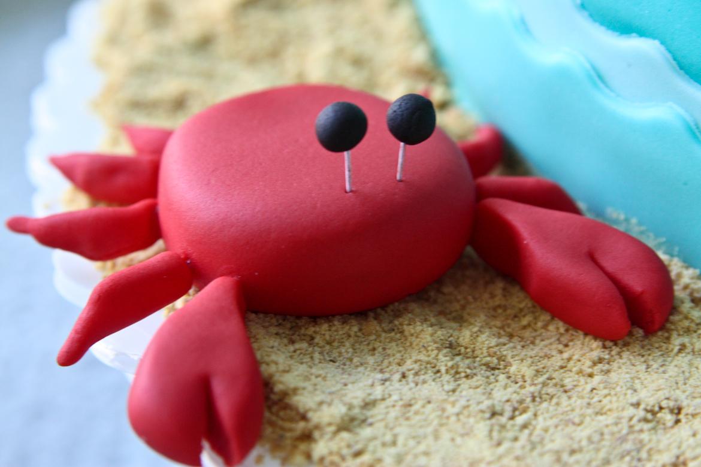 Marvelous Crab Cake Topper Rebecca Cakes Bakes Funny Birthday Cards Online Necthendildamsfinfo
