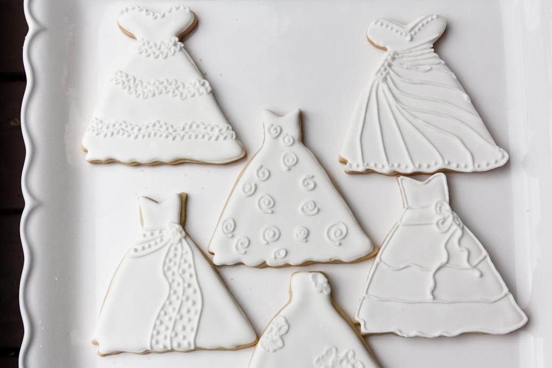 Wedding Cakes & Dresses Sugar Cookies | Rebecca Cakes & Bakes