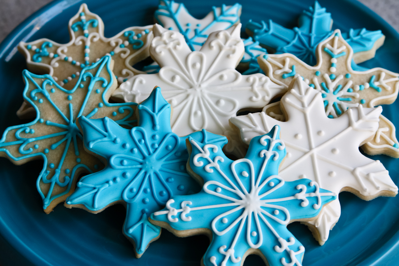 Snowflake Sugar Cookies Rebecca Cakes Bakes