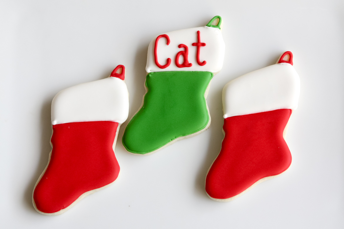 Christmas Stocking Sugar Cookies Rebecca Cakes Bakes