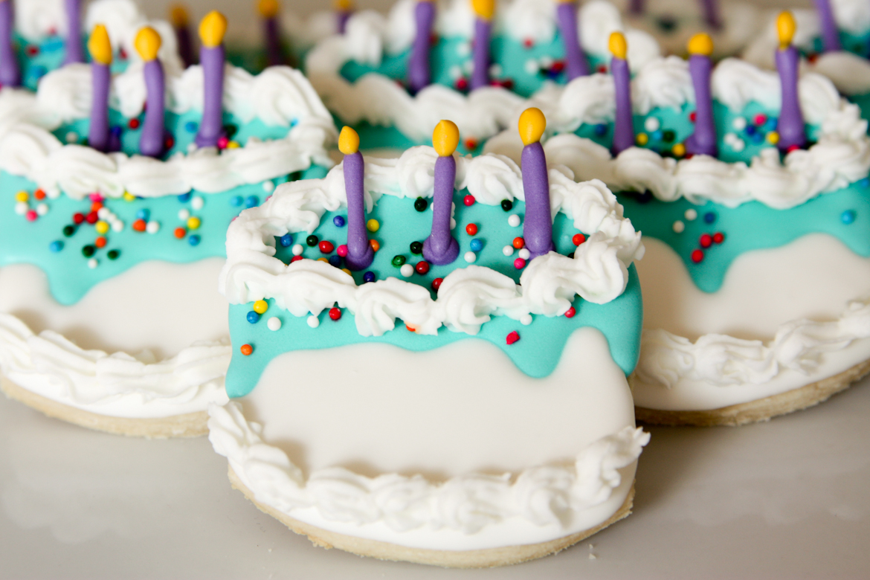 Fantastic Birthday Cake Sugar Cookies Rebecca Cakes Bakes Funny Birthday Cards Online Drosicarndamsfinfo