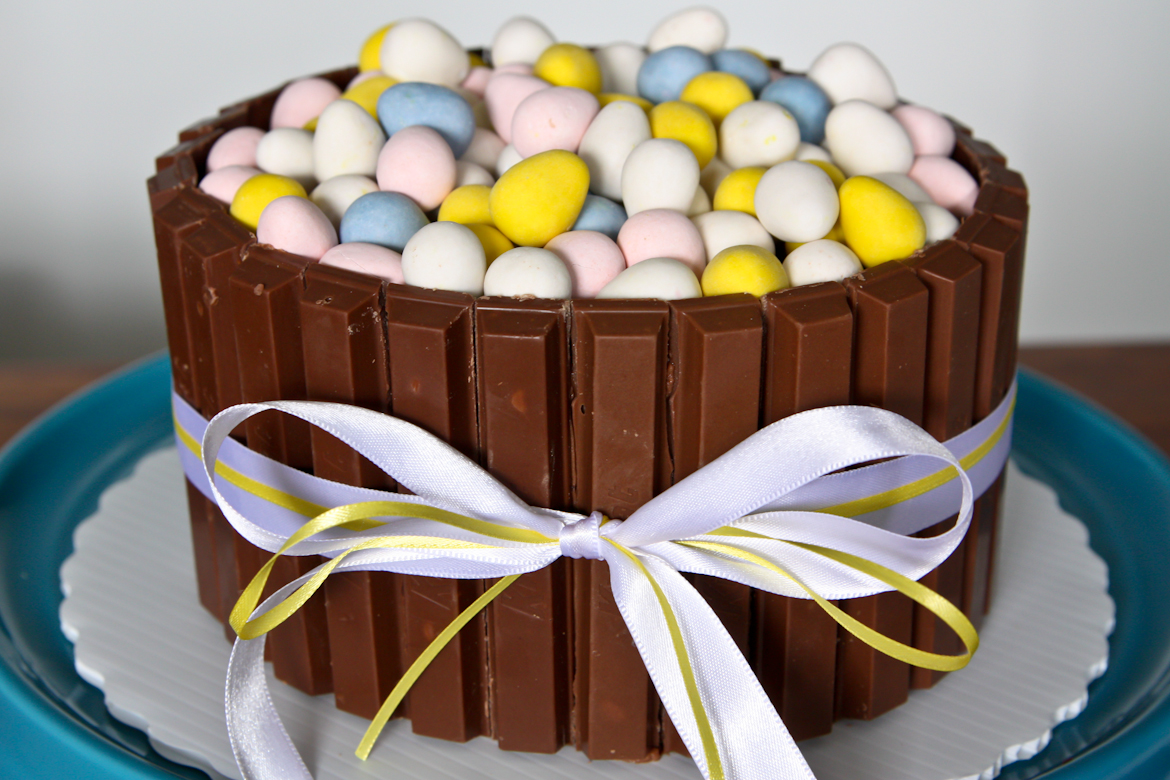 Easter Kit Kat Cake With Mini Eggs Rebecca Cakes Amp Bakes