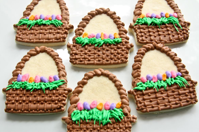 Easter Basket Sugar Cookies | Rebecca Cakes & Bakes