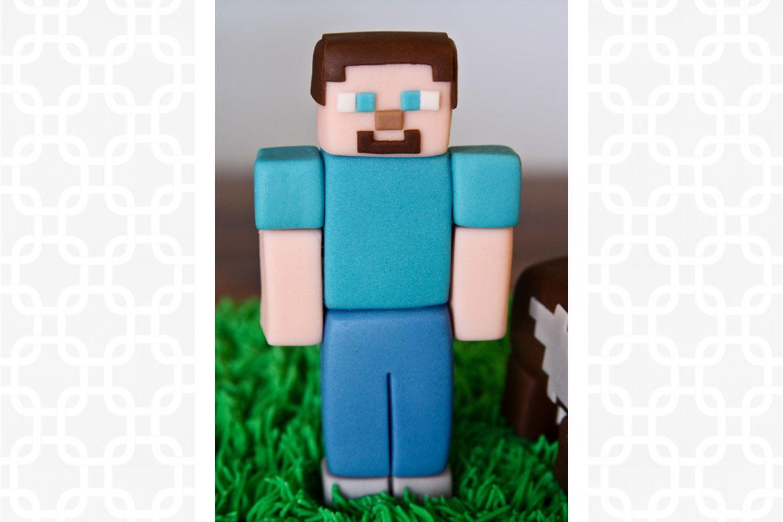 Minecraft Steve Cake Topper | Rebecca Cakes & Bakes