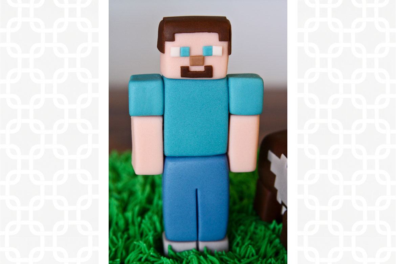 Enjoyable Minecraft Steve Cake Topper Rebecca Cakes Bakes Funny Birthday Cards Online Eattedamsfinfo