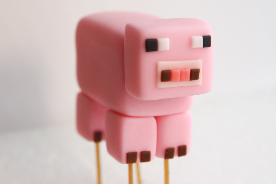 Minecraft Pig Cake Topper Rebecca Cakes Bakes