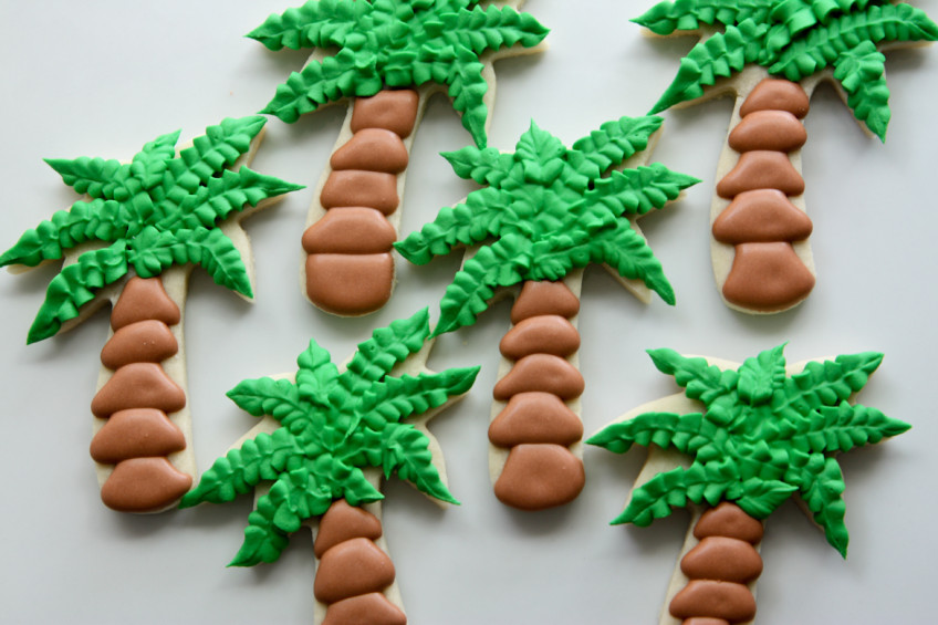 Palm Tree Sugar Cookies Rebecca Cakes Amp Bakes