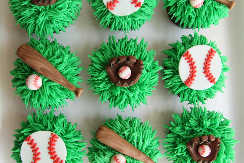 Baseball Theme Cupcakes Rebecca Cakes Bakes