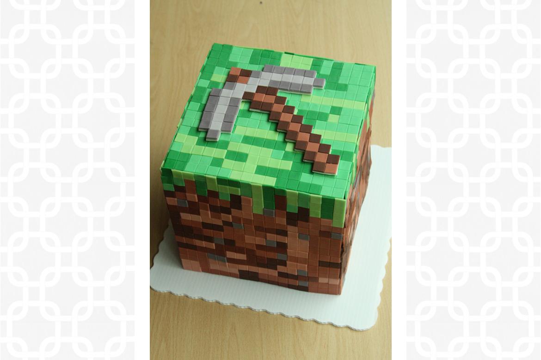 Minecraft Cube Cake Rebecca Cakes Amp Bakes