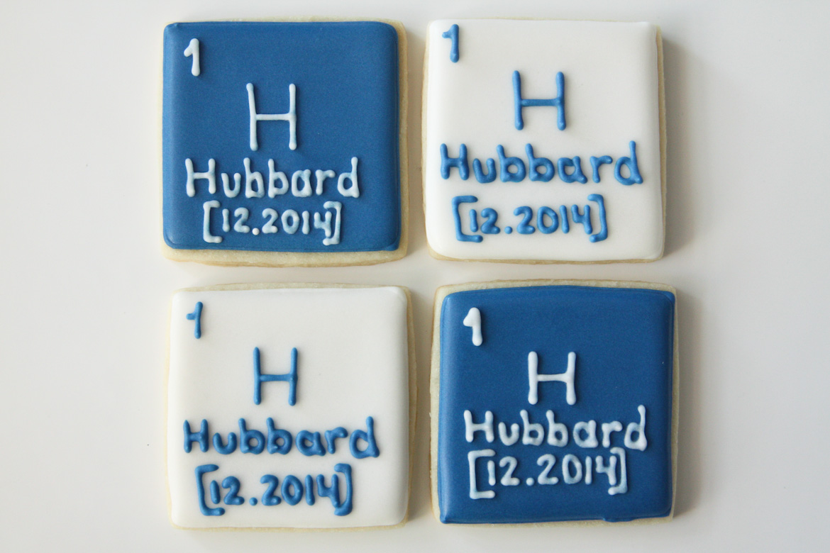 Personalized periodic table cookies rebecca cakes bakes personalized periodic table cookies gamestrikefo Choice Image