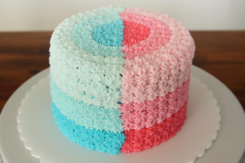 Gender Reveal Cake Rebecca Cakes Amp Bakes