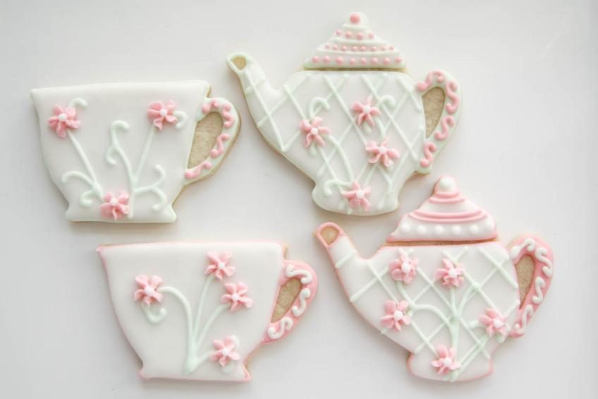 Tea Pot Amp Cup Cookies Rebecca Cakes Amp Bakes