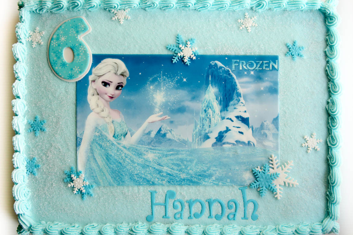 frozen themed birthday cakes