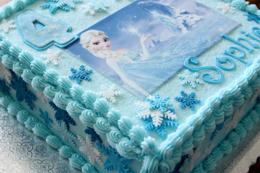 Frozen Snowflake Elsa Cake Rebecca Cakes & Bakes
