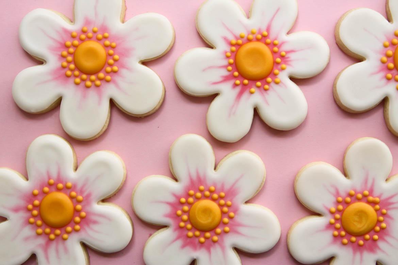 Pink Flower Cookies Images - Flower Decoration Ideas