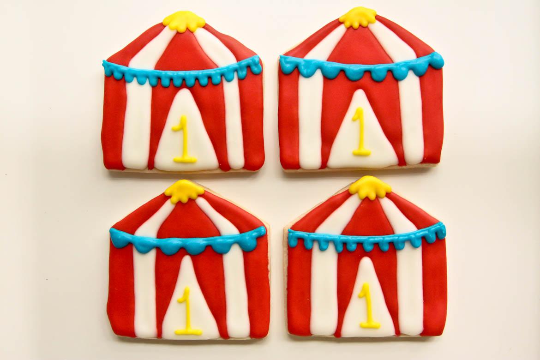 Circus Tent Cookies  sc 1 st  Rebecca Cakes u0026 Bakes & Circus Tent Cookies | Rebecca Cakes u0026 Bakes