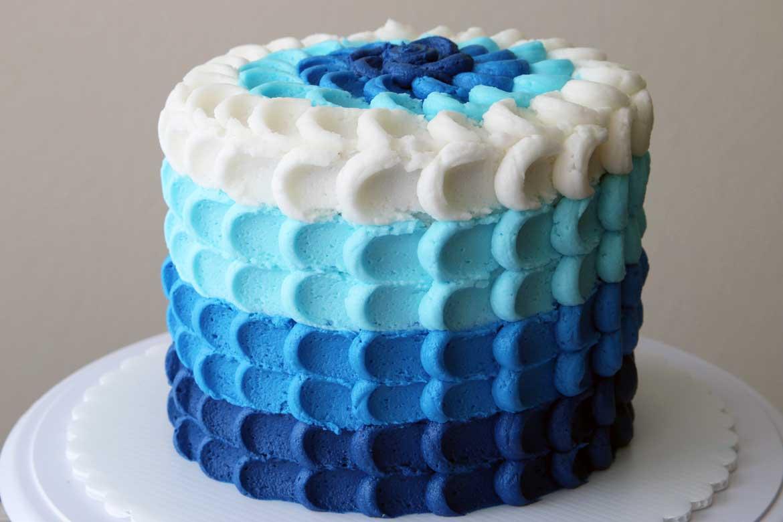 Ombre Petal Smash Cake Rebecca Cakes Amp Bakes