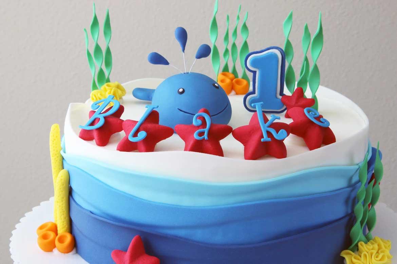 Whale Birthday Cake Rebecca Cakes Bakes