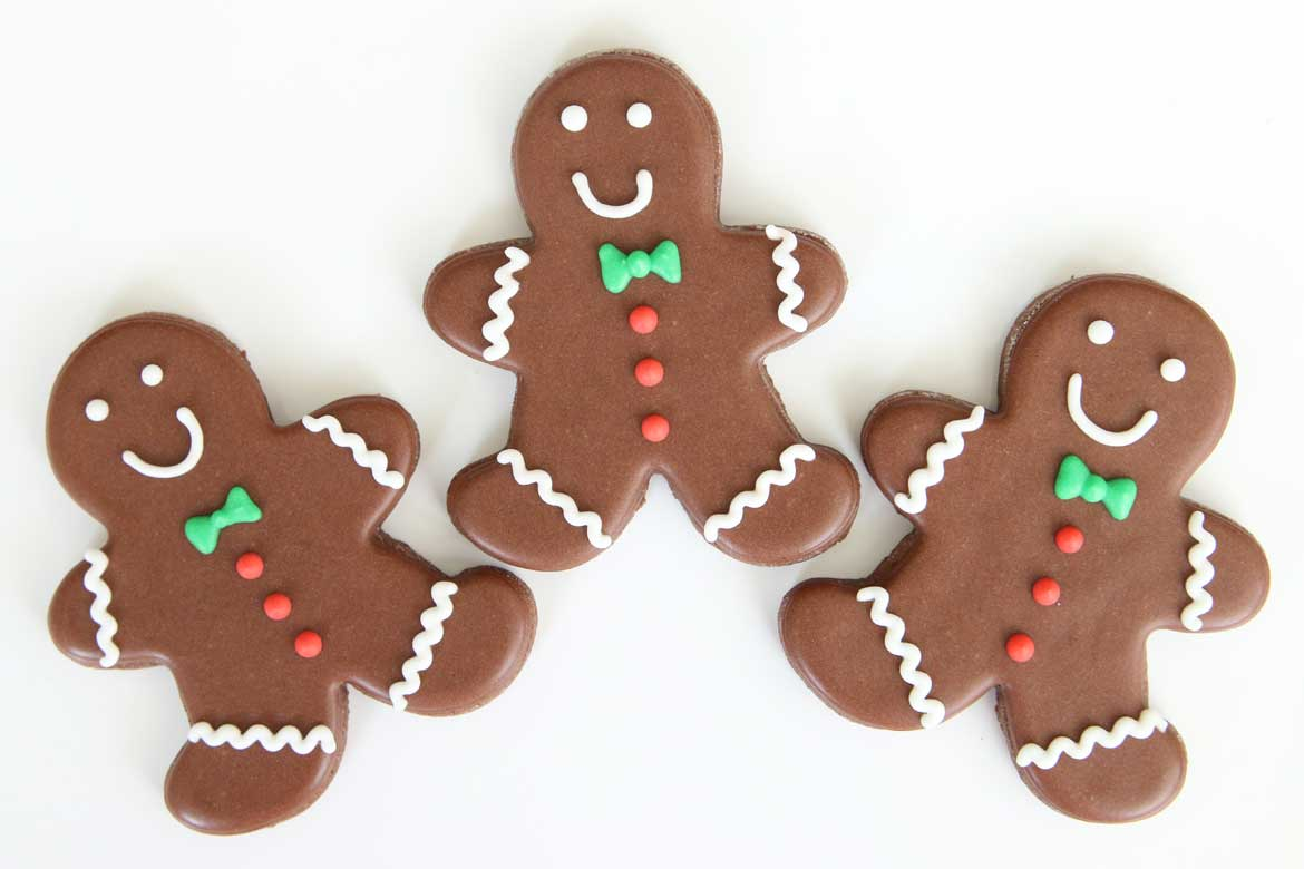 Iced Gingerbread Men Cookies Rebecca Cakes Bakes
