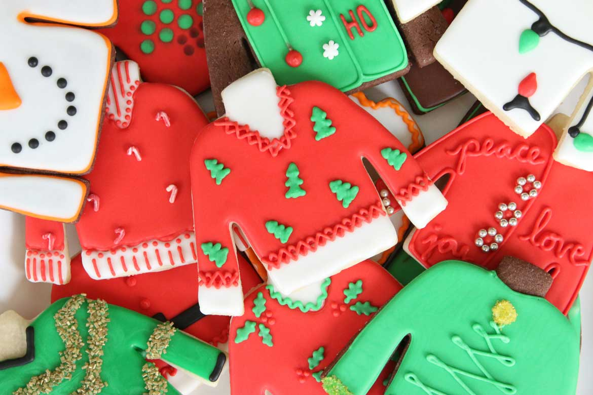 Ugly Christmas Sweater Cookies Rebecca Cakes Bakes