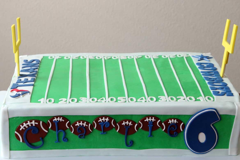 Football Field Birthday Cake Rebecca Cakes Amp Bakes