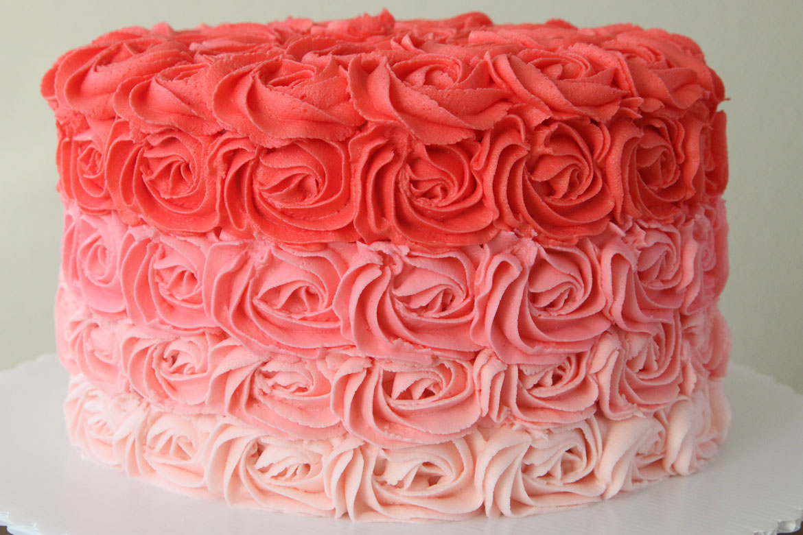 Pink Rose Cake Toppers