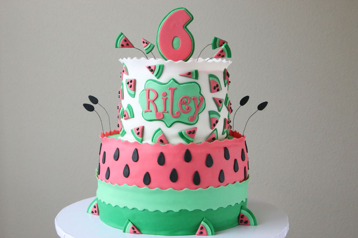 Swell Watermelon Birthday Cake Rebecca Cakes Bakes Funny Birthday Cards Online Inifofree Goldxyz